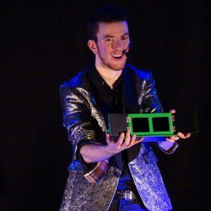 Spectacle de magie sur scène